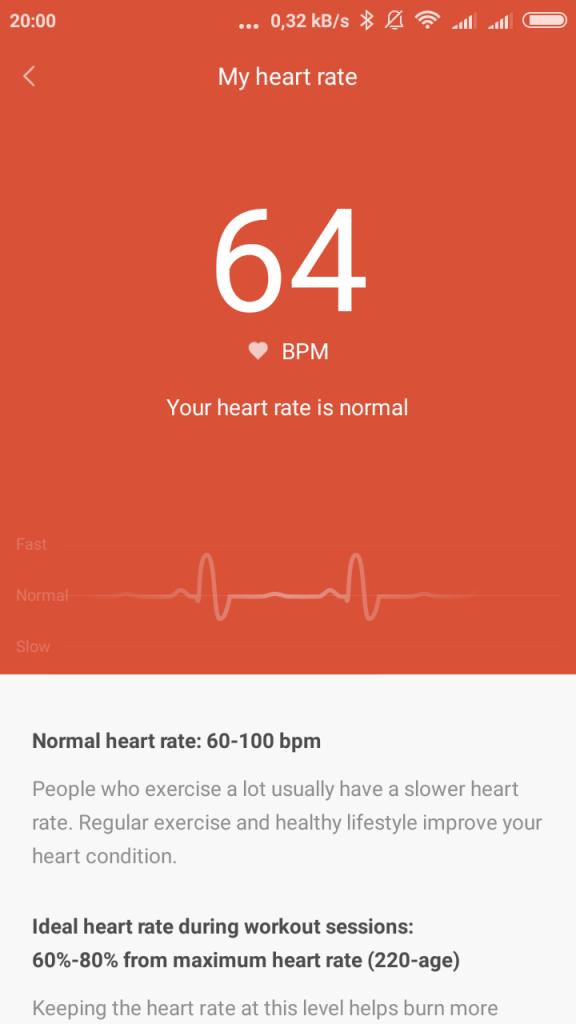 Xiaomi Mi Band 1s pulsometr