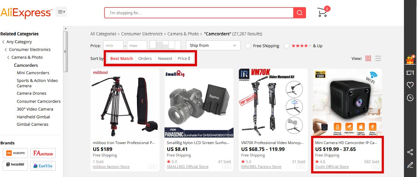 leginsy link producenta na Aliexpress jak kupowac poradnik